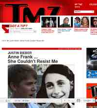 Justin Bieber Anne Frank Couldn Resist Me: TMZ.com