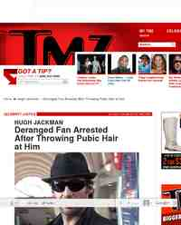 Hugh Jackman Deranged Fan Arrested After Throwing: TMZ.com